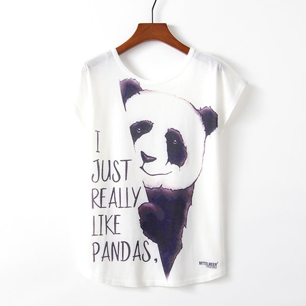 I Just Really Like Pandas Womens T Shirt - CuteFTW