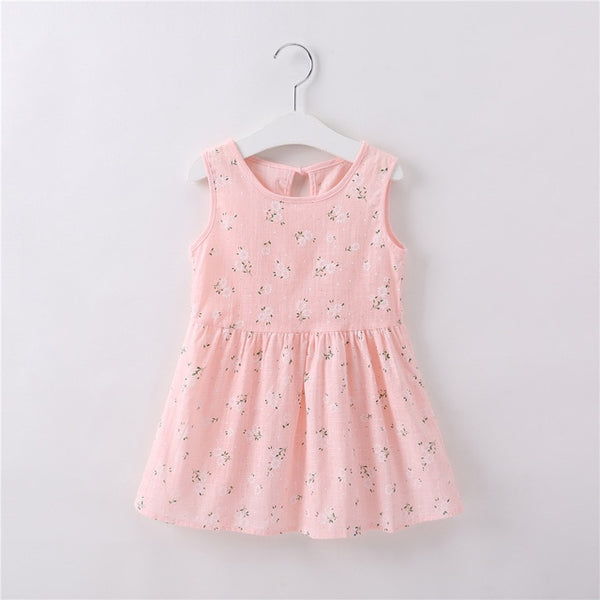 Summer Flower Cotton Dress - CuteFTW