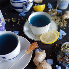 tea organic natural loose teacup blue sugar