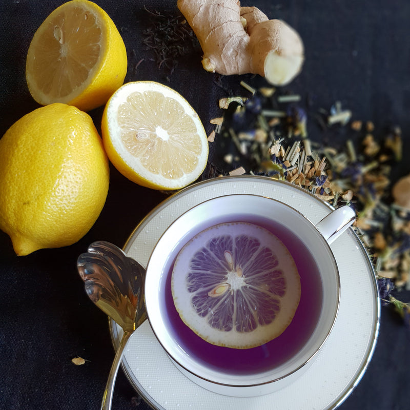 tea organic natural loose teacup premium herbal ginger lemon