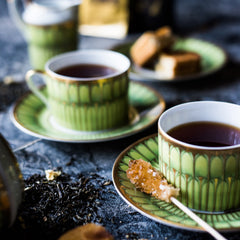 tea organic natural loose teacup sugar green black