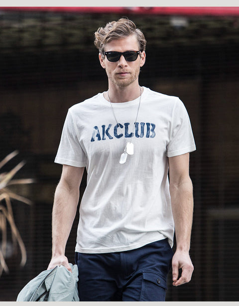 5b237c413fa4 Men's AK Club Hand Painted Letter Print | Tee - Byrne Berlin -  International Clothing and