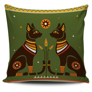 Two Egyptian Cat Pillow Cover
