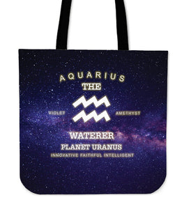 NP Zodiac Aquarius Tote Bag