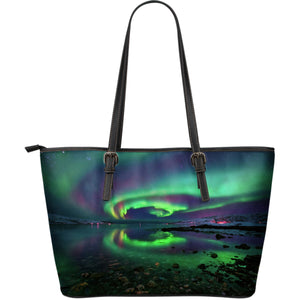 Northern Lights Leather Large Handbag
