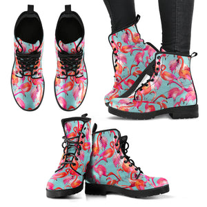 Handcrafted Pretty Flamingo Boots