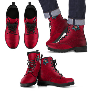 Steampunk Rose Men's Leather Boots