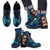 Men's Leather Boots Calavera (Turquoise)