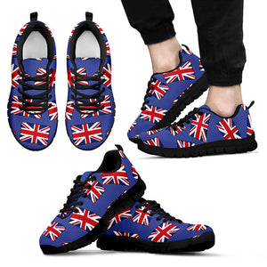 GREAT BRITAIN'S PRIDE! GREAT BRITAIN'S FLAGSHOE - Men's Sneaker (blue bg - black lace)