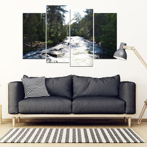 RELAXING RAPIDS 4 PCS CANVAS FRAME SET