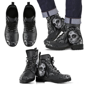 Men's Leather Boots Calavera (Gray)