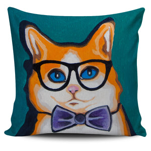 Orange  Cat Pillow Cover