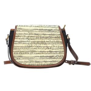 Sheet Music Leather Saddle Bag