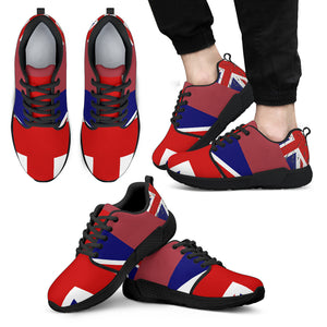 U.K. Flag Red Men's Athletic Sneakers