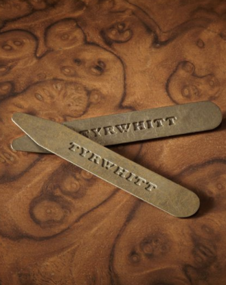 Charles Tyrwhitt brass collar stays