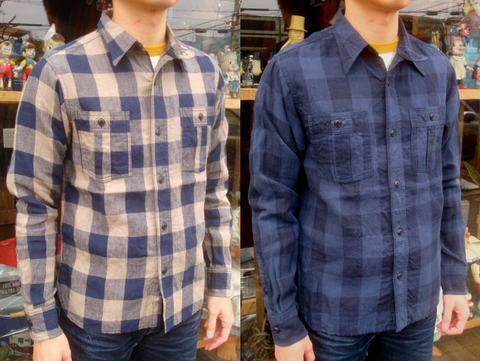 check pattern linen shirt