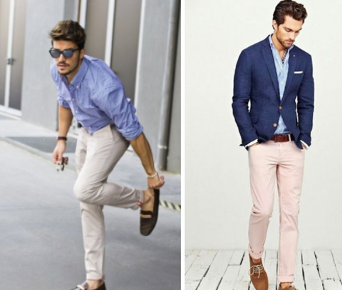 beige chinos casual and smart casual