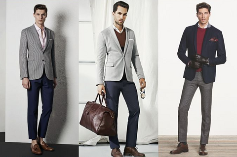 Grey suit separates