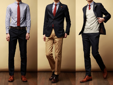 Navy suit dress up or down combinations