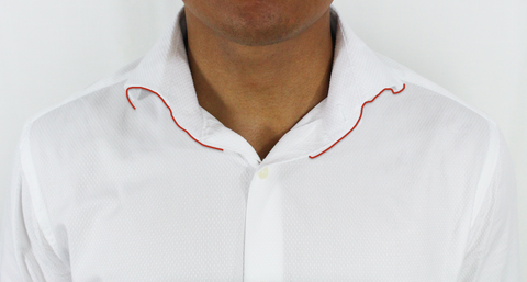 curled shirt collar