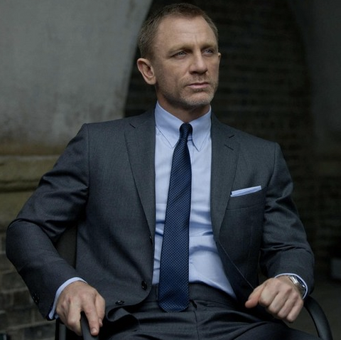Daniel Craig James Bond Skyfall snap tab collar