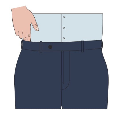 trouser waist size check test