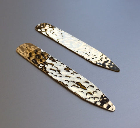gold collar stays from Clay and Chloe