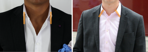 forward point vs cutaway collar no tie