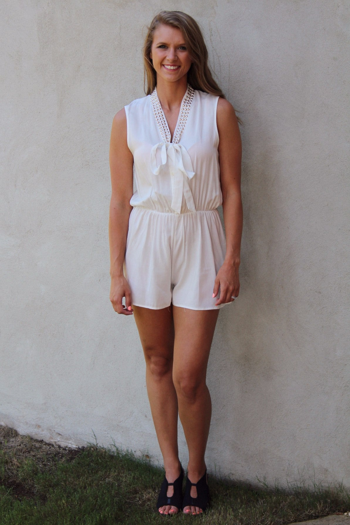 99aecfaf93f Keeping it Classy White Romper - Ambees Boutique