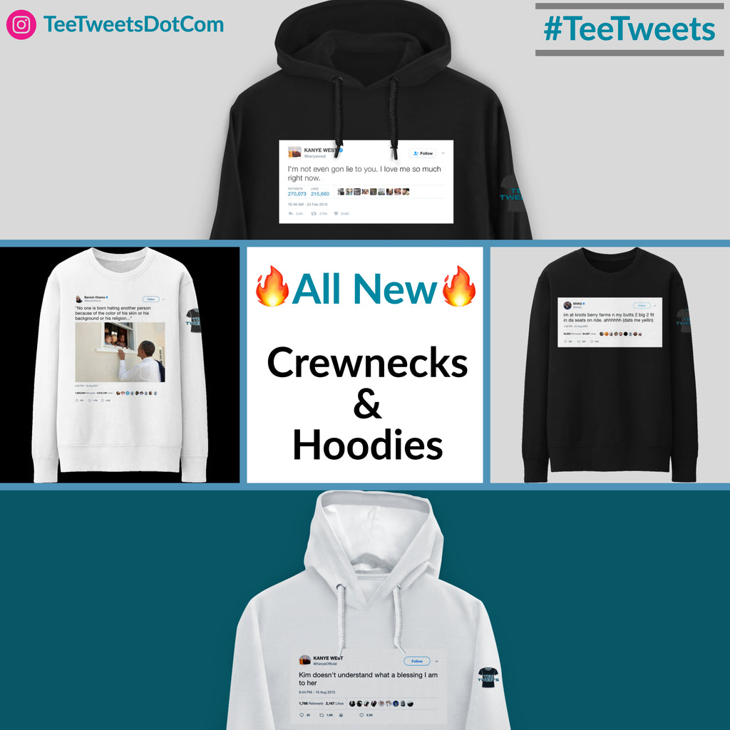 🔥 Hot New Crewnecks and Hoodies 🔥