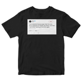 50 Cent never looking at Kanye tweets ever again tweet on a black t-shirt from Tee Tweets