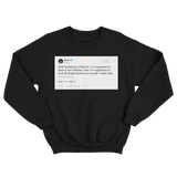 50 Cent should have a twin brother tweet on a black crewneck sweater from Tee Tweets