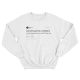 50 Cent should have a twin brother tweet on a white crewneck sweater from Tee Tweets