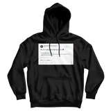 Alexandria Ocasio-Cortez all your base is us tweet on a black hoodie from Tee Tweets