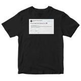 Alexandria Ocasio-Cortez all your base is us tweet on a black t-shirt from Tee Tweets