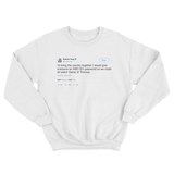 Andrew Yand free HBO password to watch Game of Thrones tweet on a white sweatshirt from Tee Tweets