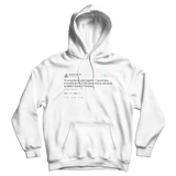 Andrew Yand free HBO password to watch Game of Thrones tweet on a white hoodie from Tee Tweets
