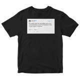 Andy Lassner Eminem is now president of the USA tweet on a black t-shirt from Tee Tweets
