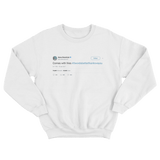Anna Kendrick comes with fries 3 words better than I love you tweet white sweater from Tee Tweets
