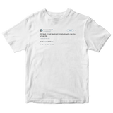 Anna Kendrick oh god I'm stuck with my my whole life tweet on a white t-shirt from Tee Tweets