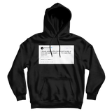 Ariana Grande I'm really that bitch huh tweet on a black hoodie from Tee Tweets