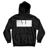 Ariana Grande love u more than you'll ever know tweet on a black hoodie from Tee Tweets