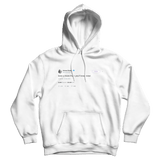 Ariana Grande love u more than you'll ever know tweet on a white hoodie from Tee Tweets
