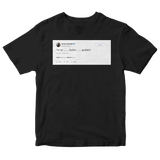 Ariana Grande I'm so grateful tweet on a black t-shirt from Tee Tweets