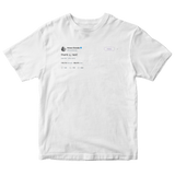 Ariana Grande thank u next tweet on a white t-shirt from Tee Tweets