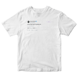 Ariana Grande what the fuck is going on tweet on a white t-shirt from Tee Tweets