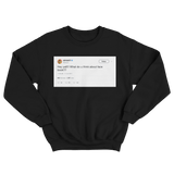 Ashanti hey y'all what do you think of Facebook tweet on a black crewneck sweater from Tee Tweets