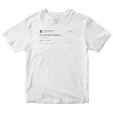 Ashton Kutcher how bout them Hawkeyes tweet on a white t-shirt from Tee Tweets