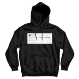 Aubrey Plaza Yo Barack Obama come over tweet on a black hoodie from Tee Tweets