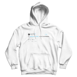 Aubrey Plaza Yo Barack Obama come over tweet on a white hoodie from Tee Tweets